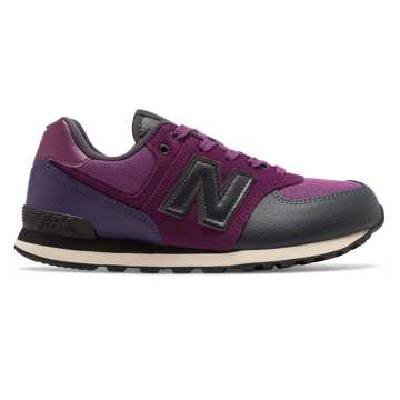 New Balance 574 Backpack, Claret with Black Violet