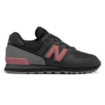 New Balance 574 Day and Night, Black with Dusted Peach