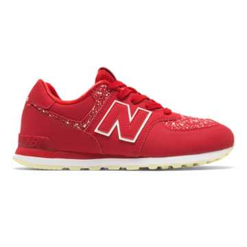 New Balance 574 Glow in the Dark, Red