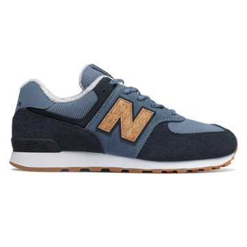 New Balance 574 Core Plus, Chambray with Eclipse