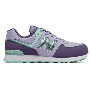 New Balance 574, Clear Amethyst with Violet Fluorite
