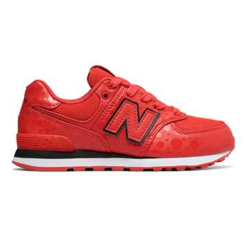 New Balance 574 Collegiate Red Youths Trainers Size 3 UK BvkeoS