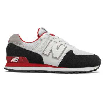 New Balance 574 Summer Sport, Black with Team Red