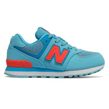 New Balance 574, Enamel Blue with Dragonfly