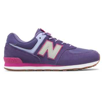 New Balance Camp 574, Violet Fluorite with Carnival