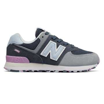 New Balance 574, Vintage Indigo with Dark Violet Glo