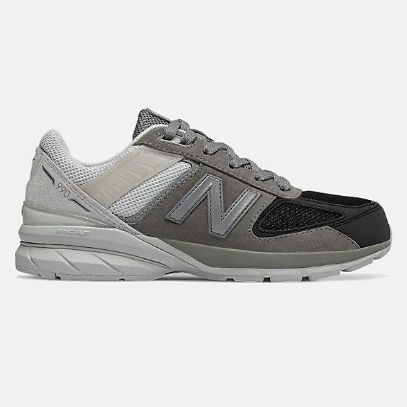 New Balance 990V5系列兒童復古休閑鞋, GC990MN5