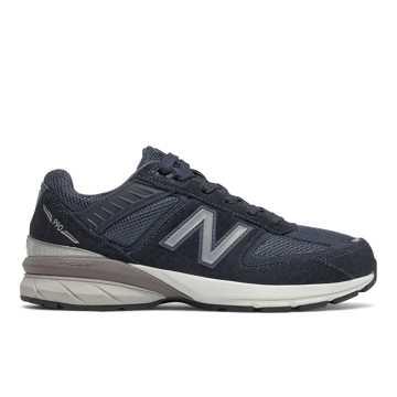 New Balance 990V5儿童休闲运动鞋, 深蓝色