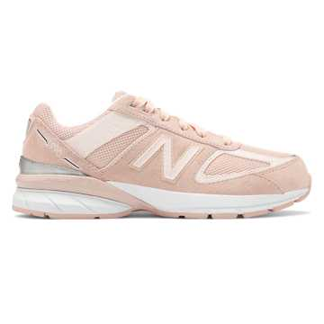 New Balance 990v5, White Oak with Pink Mist