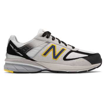 New Balance 990v5, Silver with Black