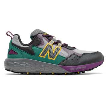 New Balance Fresh Foam Crag, Castlerock with Mirage Green & Midnight Magenta