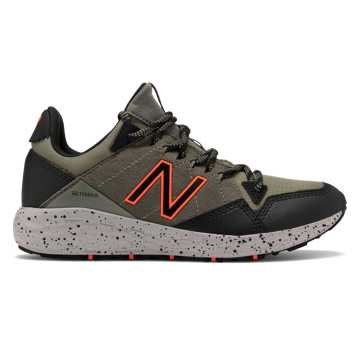 New Balance Fresh Foam Crag, Mineral Green with Black & Alpha Orange