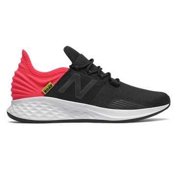 New Balance Fresh Foam Roav, Black with Energy Red