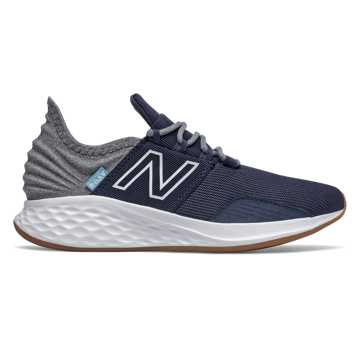 New Balance Fresh Foam Roav Tee Shirt, Natural Indigo with Light Aluminum