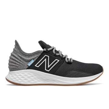 New Balance Fresh Foam Roav Tee Shirt, Black with Light Aluminum