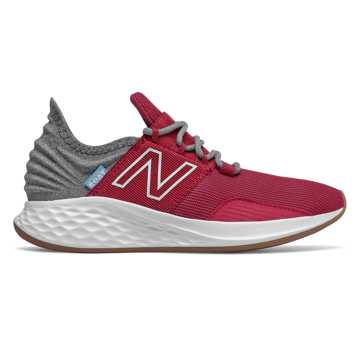 New Balance Fresh Foam Roav Tee Shirt, Neo Crimson with Light Aluminum