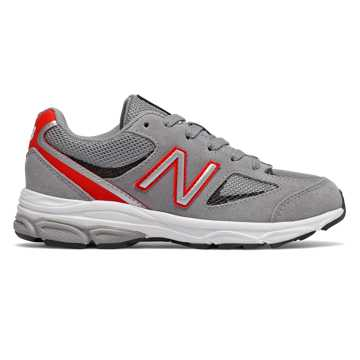 New Balance 888, Steel with Velocity Red & NB Navy