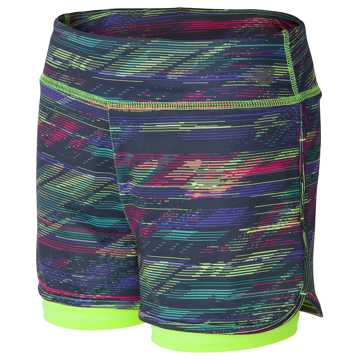 New Balance Layered Bike Short, Lime Glo