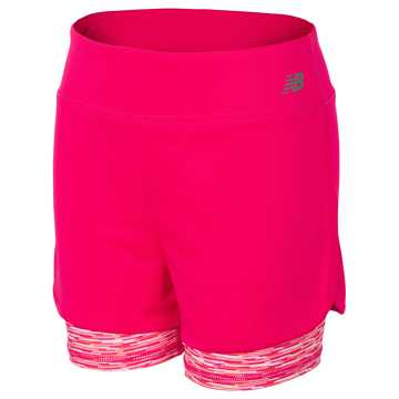 New Balance Layered Bike Short, Pomegranate