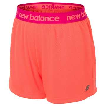 New Balance Core Performance Short, Sunrise with Vivid Jade