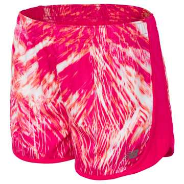 New Balance Print Performance Short, Pomegranate