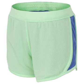 New Balance Reversible Fashion Short, Seafoam with Blue