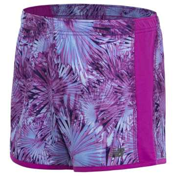 New Balance Printed Performance Short, Voltage Violet