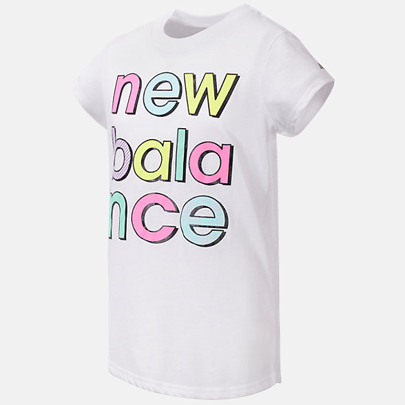 New Balance Short Sleeve Graphic Tee, GT04936WT