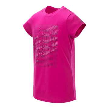 New Balance Short Sleeve Graphic Tee, Carnival Pink