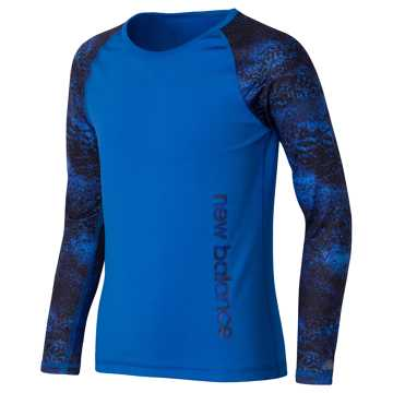 New Balance Long Sleeve Performance Tee, Majestic Blue