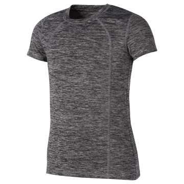 New Balance Short Sleeve Performance Tee, Black with White
