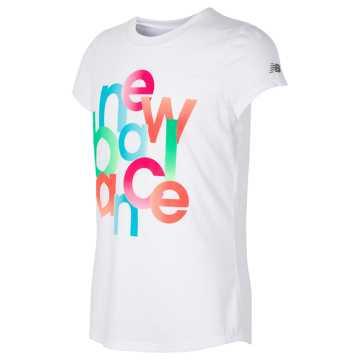 New Balance Short Sleeve Graphic T-Shirt, White