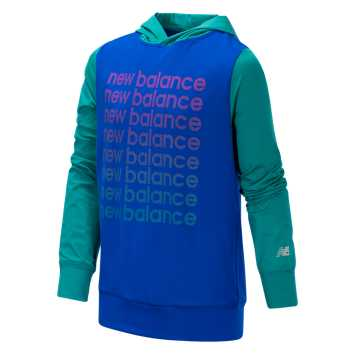 New Balance Hooded Pullover, UV Blue with Amazonite