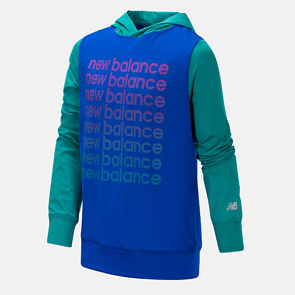 New Balance Hooded Pullover, GT15283UVB
