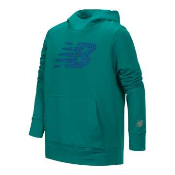 New Balance Graphic Hoodie, Amazonite with Silver & Iridescent