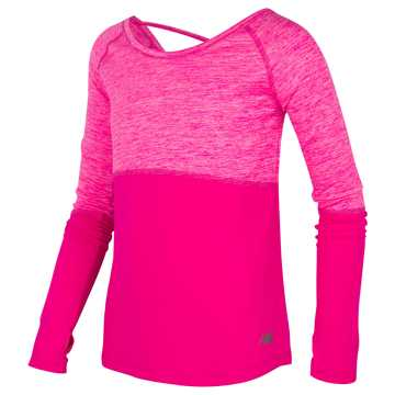 New Balance Long Sleeve Performance Top, Pink Glo