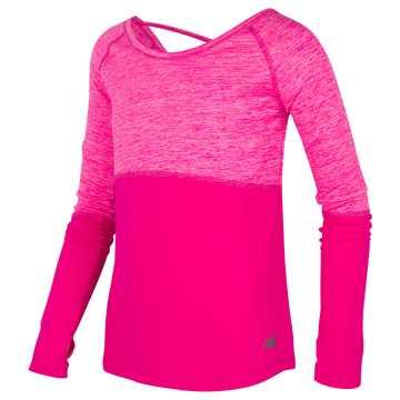 New Balance Long Sleeve Performance Top, Pink Glo