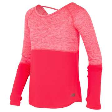 New Balance Long Sleeve Performance Top, Vivid Coral