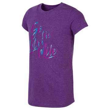 New Balance Short Sleeve Grapic Tee, Purple Heather