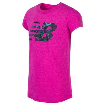 New Balance Short Sleeve Grapic Tee, Rose Violet