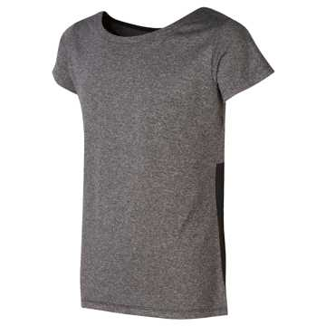 New Balance Short Sleeve Cationic Top, Grey