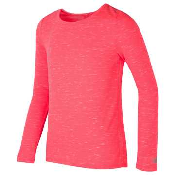New Balance Long Sleeve Performance Top, Guava