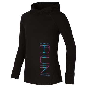 New Balance Hooded Performance Top, Black