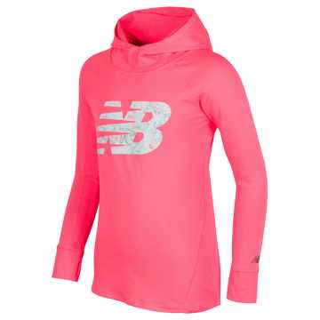 New Balance Hooded Performance Top, Guava