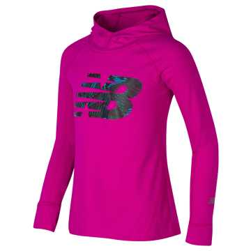 New Balance Hooded Performance Top, Purple