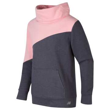 New Balance Funnel Neck Pullover, Himalayan Pink with Grey