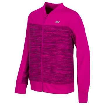 New Balance Full Zip Jacket, Pomegranate