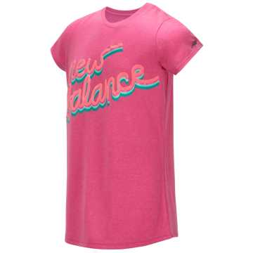 New Balance Short Sleeve Graphic Tee, Light Peony
