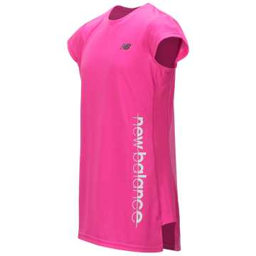 New Balance Short Sleeve Performance Top, Light Peony with Peony