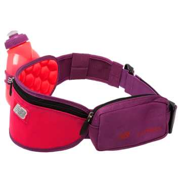 New Balance Helium 1 Bottle Hydration Belt, Bright Cherry with Jewel